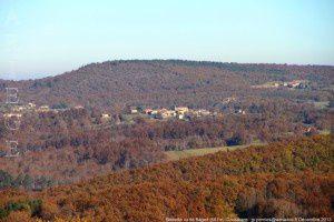 Bédeille vu de Bagert (551m)