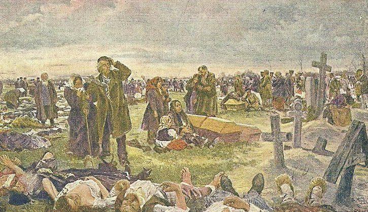 Vladimir Makovsky : enterrement des victimes de la Khodinka
