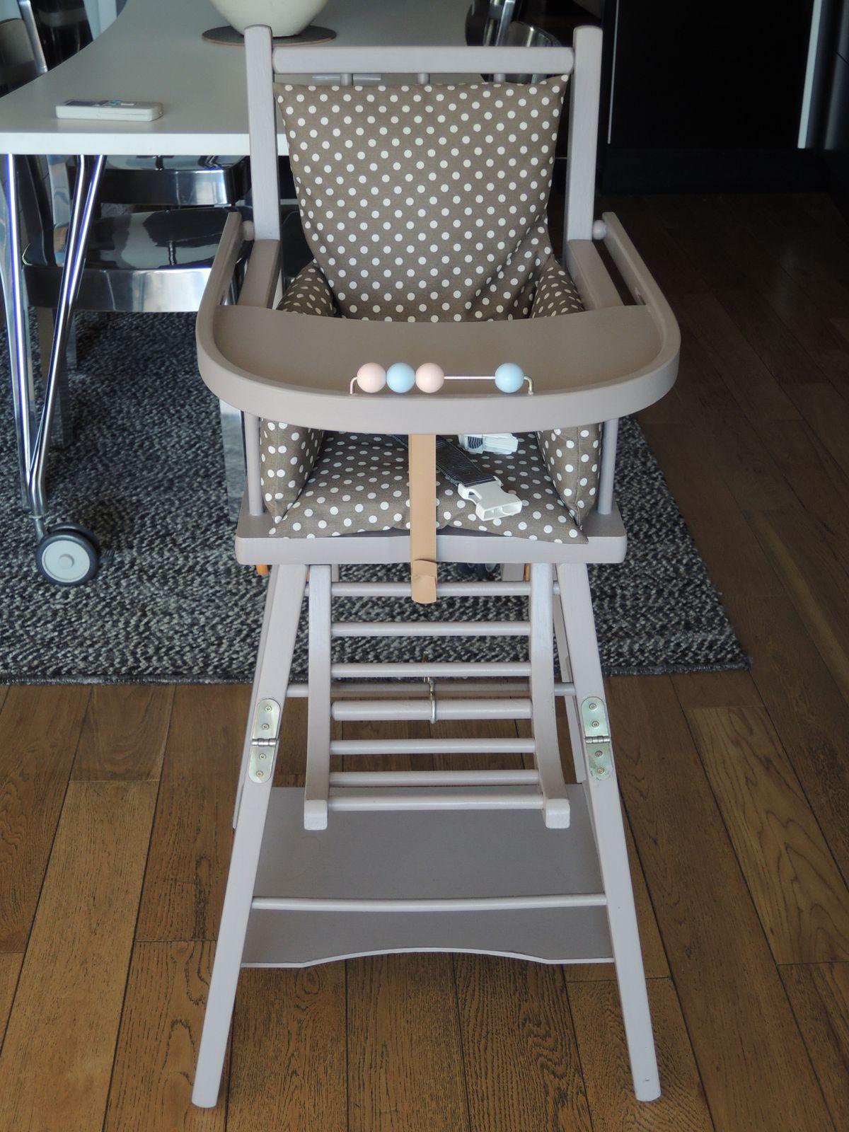 Comment Restaurer Une Chaise En Bois relooking d'une chaise haute combelle - les trouvailles d