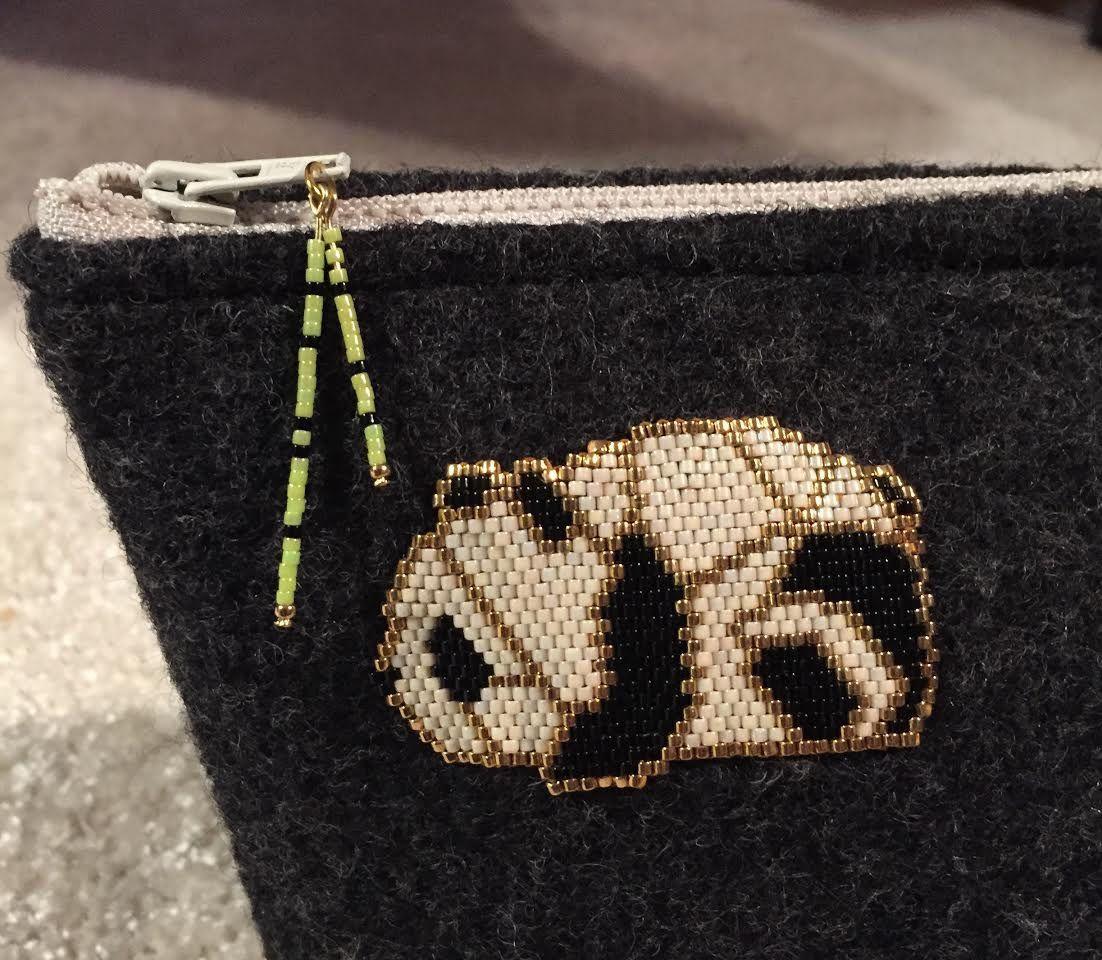 panda en brick stitch