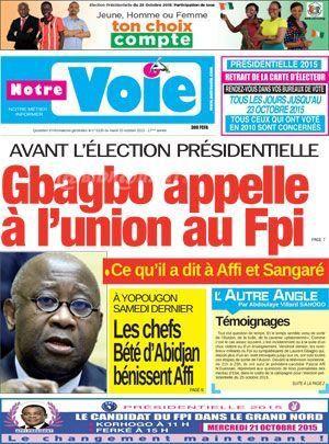 Je vous, le, disais le 31 mai, jour de son anniversaire, que le president GBA.GBO allait prendre une decision importante concernant la crise au sein du FPI