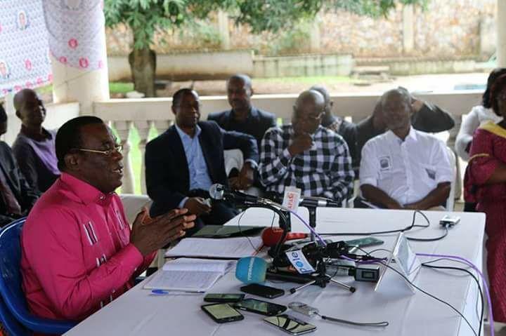 Voici pour vous, l'integralite de la conference de presse du president Pascal AFFI N'guessan