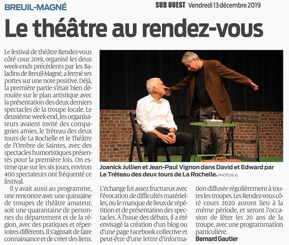 """Bilan des 7émes Théâtrales """"Les Rendez-Vous Côté Cour 2019"""""""