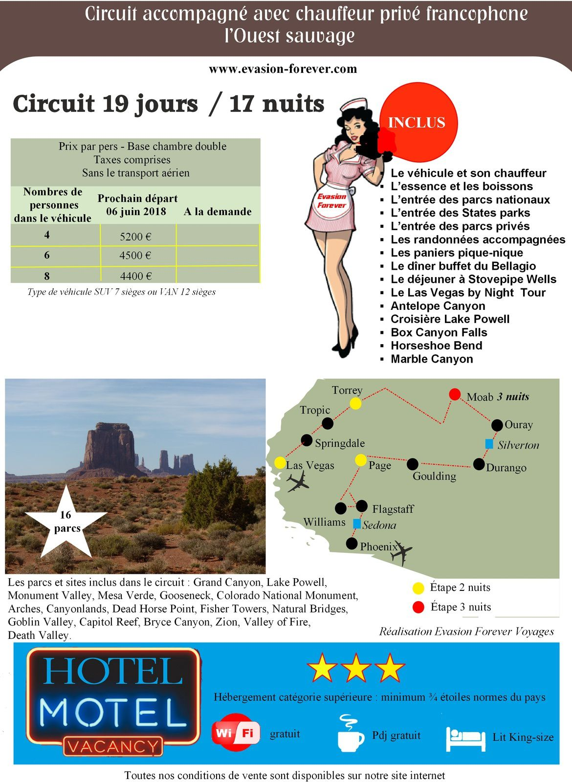 Circuit l'Ouest Sauvage. Evasion Forever Voyages