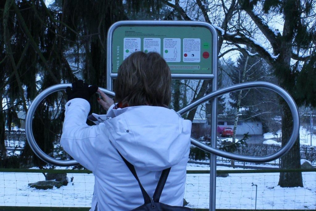 Découverte -sous la neige- des diverses étapes du parcours de mouvement de Frauenfeld, photos C.S. Sautter Zerbi & A.-C. Juillerat Van der Linden