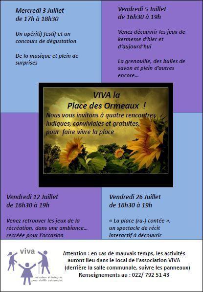 VIVA la Place des Ormeaux !!!