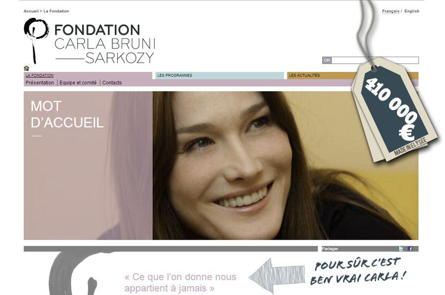 Carla Bruni-Sarkozy : une ardoise de 410 000 € Net !