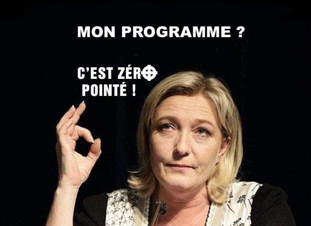 Le Pen se ramasse dans le dernier sondage BVA