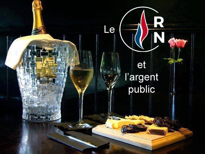 Champagne et dîners de luxe que le RN - ex FN - devra nous rembourser