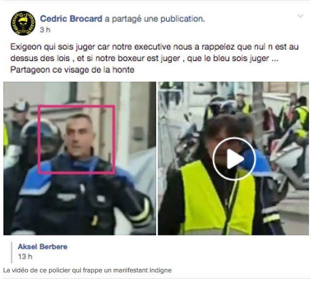 Les Gilets Jaunes s'insurgent contre les violences policières mais glorifient celles du «boxeur de CRS»