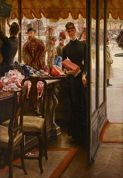 James Tissot, La demoiselle de magasin, 1883-1885