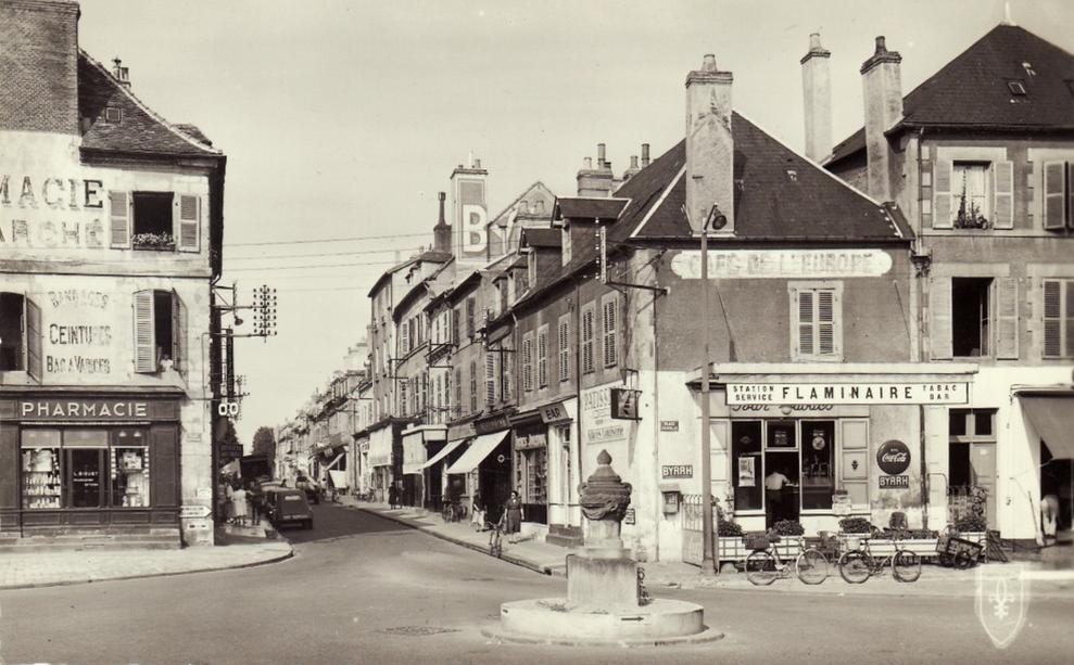 Bas de la rue régemortes - années 60