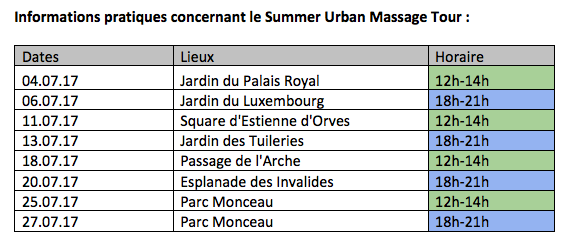 A partir de 75 euros le massage d'une heure.
