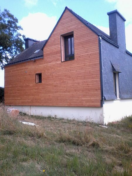 Isolation par l'extérieur - Laine de bois + bardage douglas