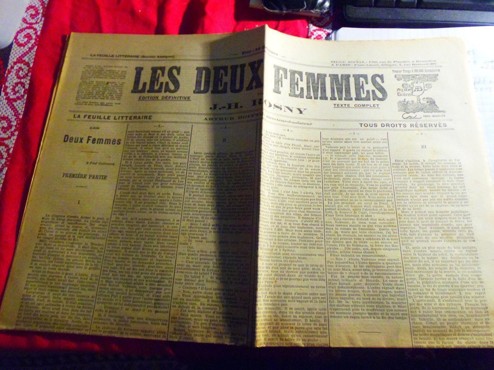 J.-H. Rosny aîné - Les Deux femmes (La Feuille littéraire - 1911)
