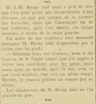 Brève : J.-H. Rosny aîné est un troll !