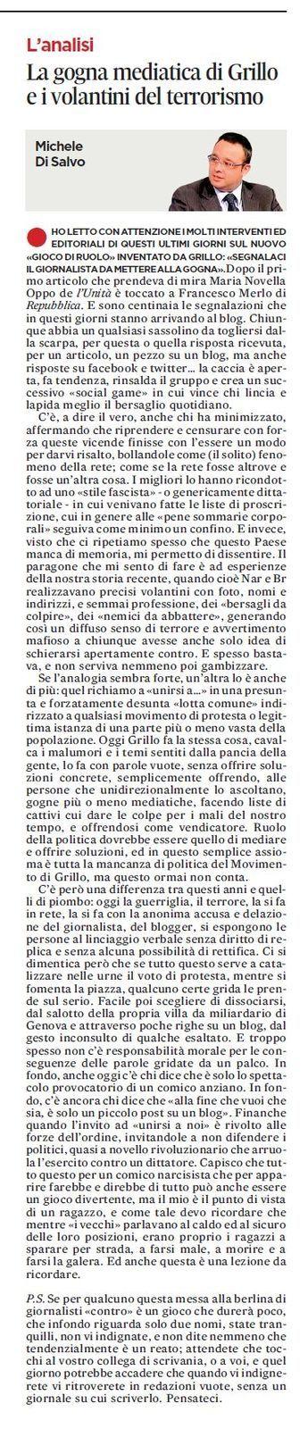 L'Unità - 11/12/2013