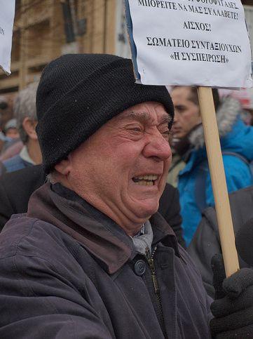 Manifestant athénien