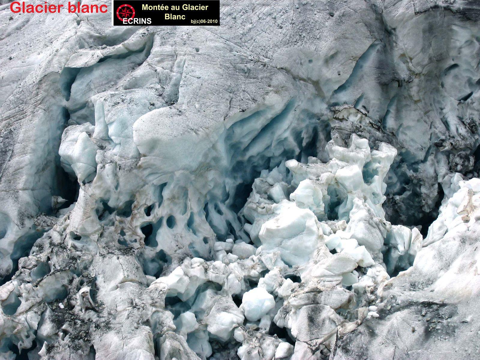 séracs du GLACIER BLANC ( Ecrins ) - Hautes Alpes