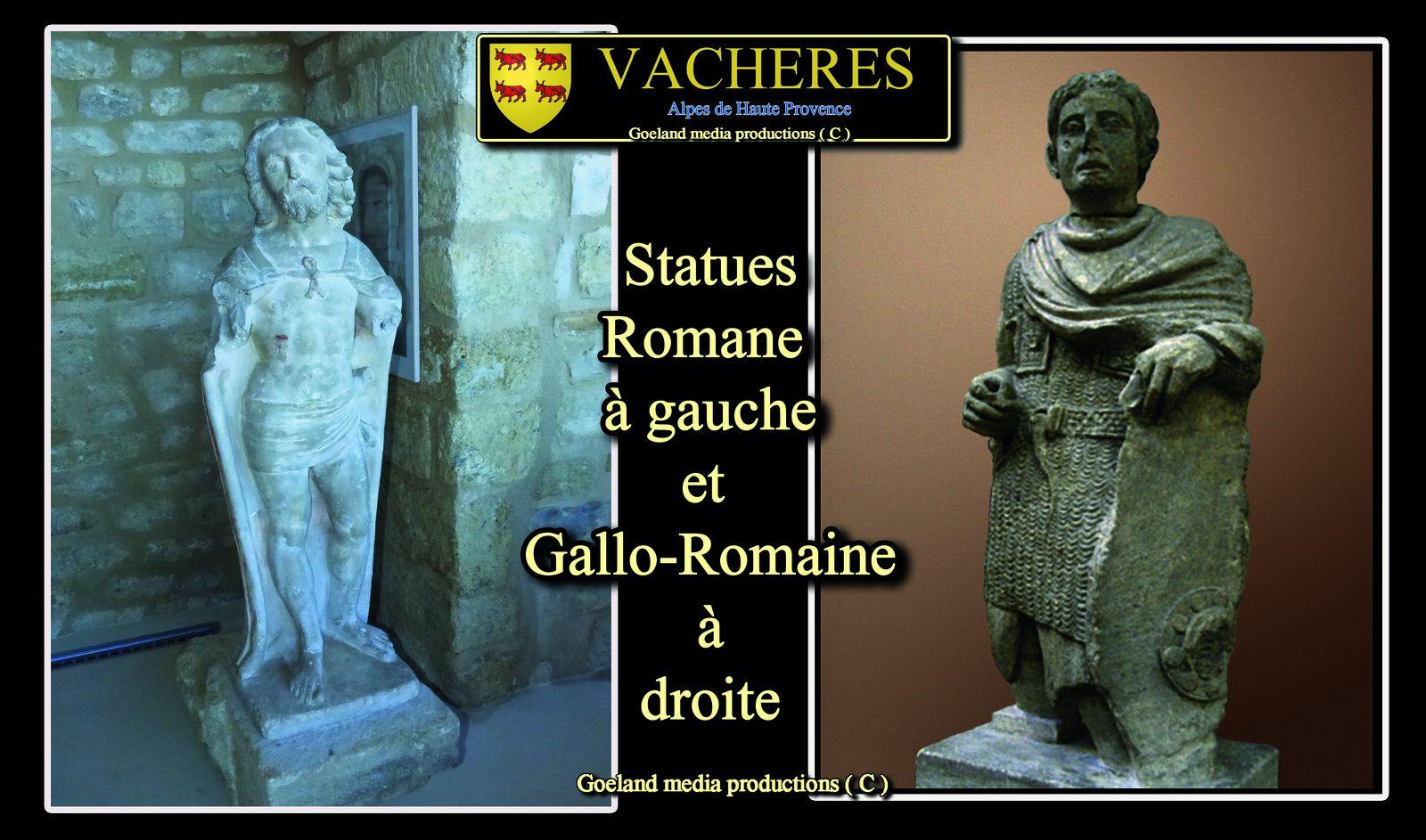 Statuaire de Vachères - luberon - haute provence - antiquité
