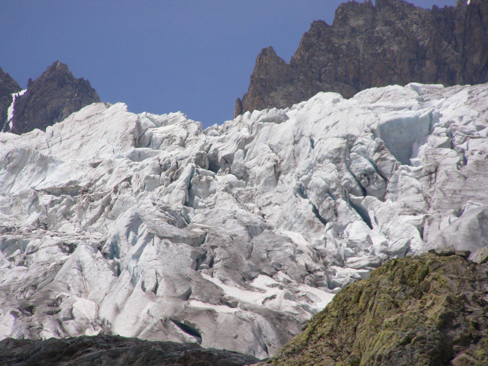 GLACIER BLANC - La perle des Ecrins - en voie de régression - honte aux responsables - Hautes Alpes