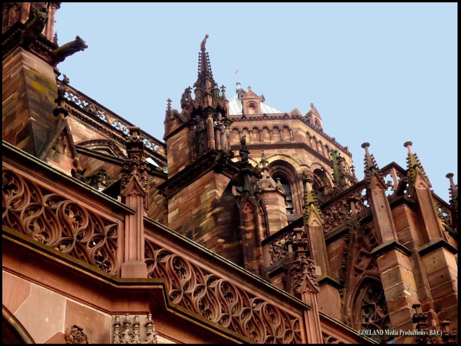Cathédrale de STRASBOURG - Gargouilles de la région GRAND EST