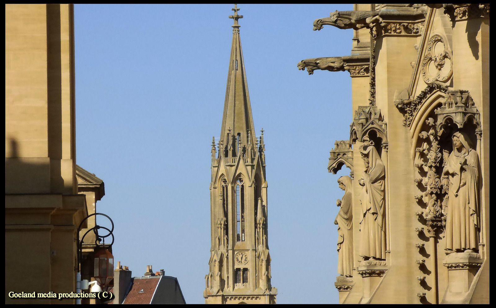 Metz Cathédrale SAINT ETIENNE  - Lorraine - ( Moselle ) région SUD - PACA
