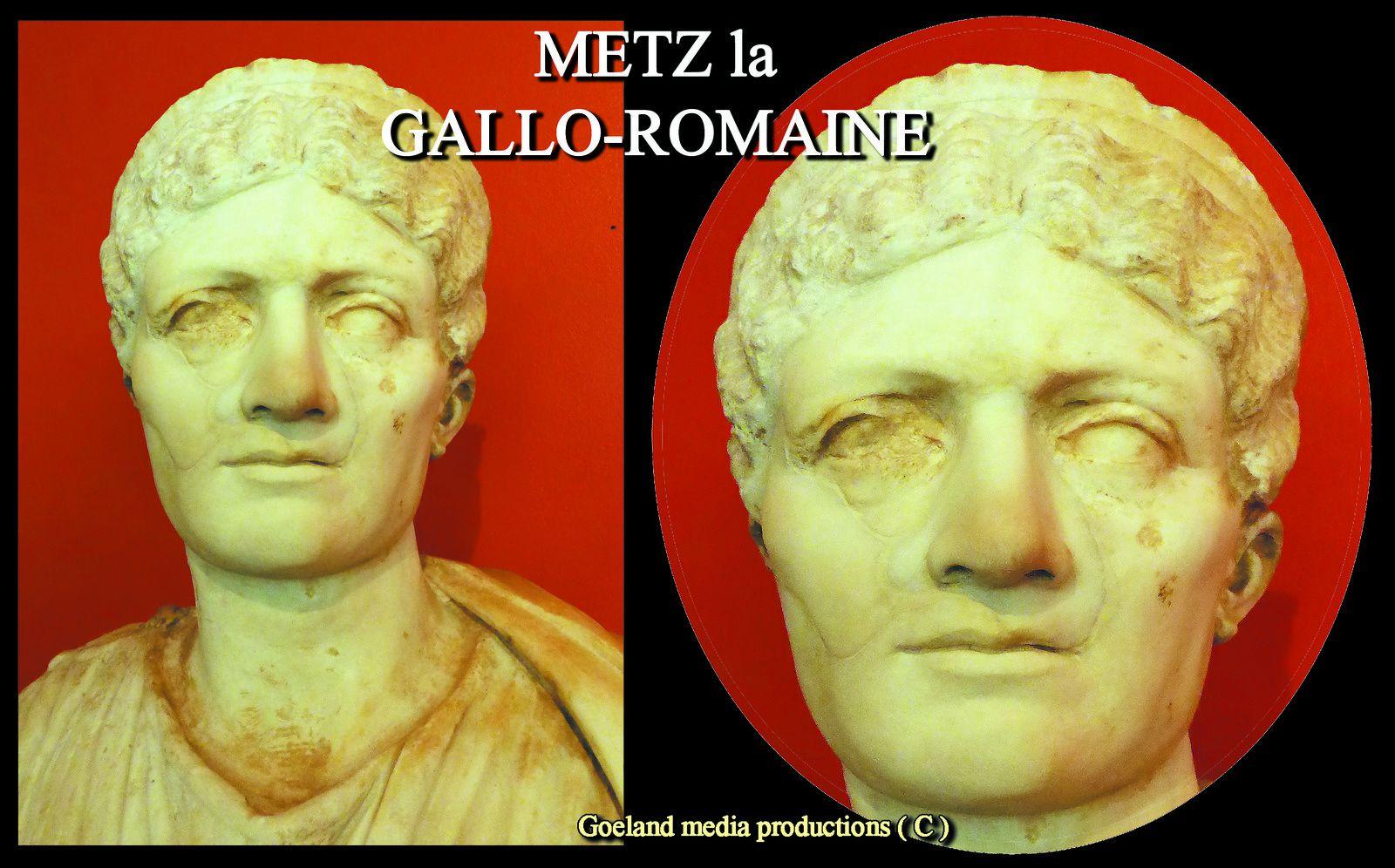 TETE monument Funéraire - ( Metz ) - MUSEE de la COUR d'OR - collections Gallo-Romaines