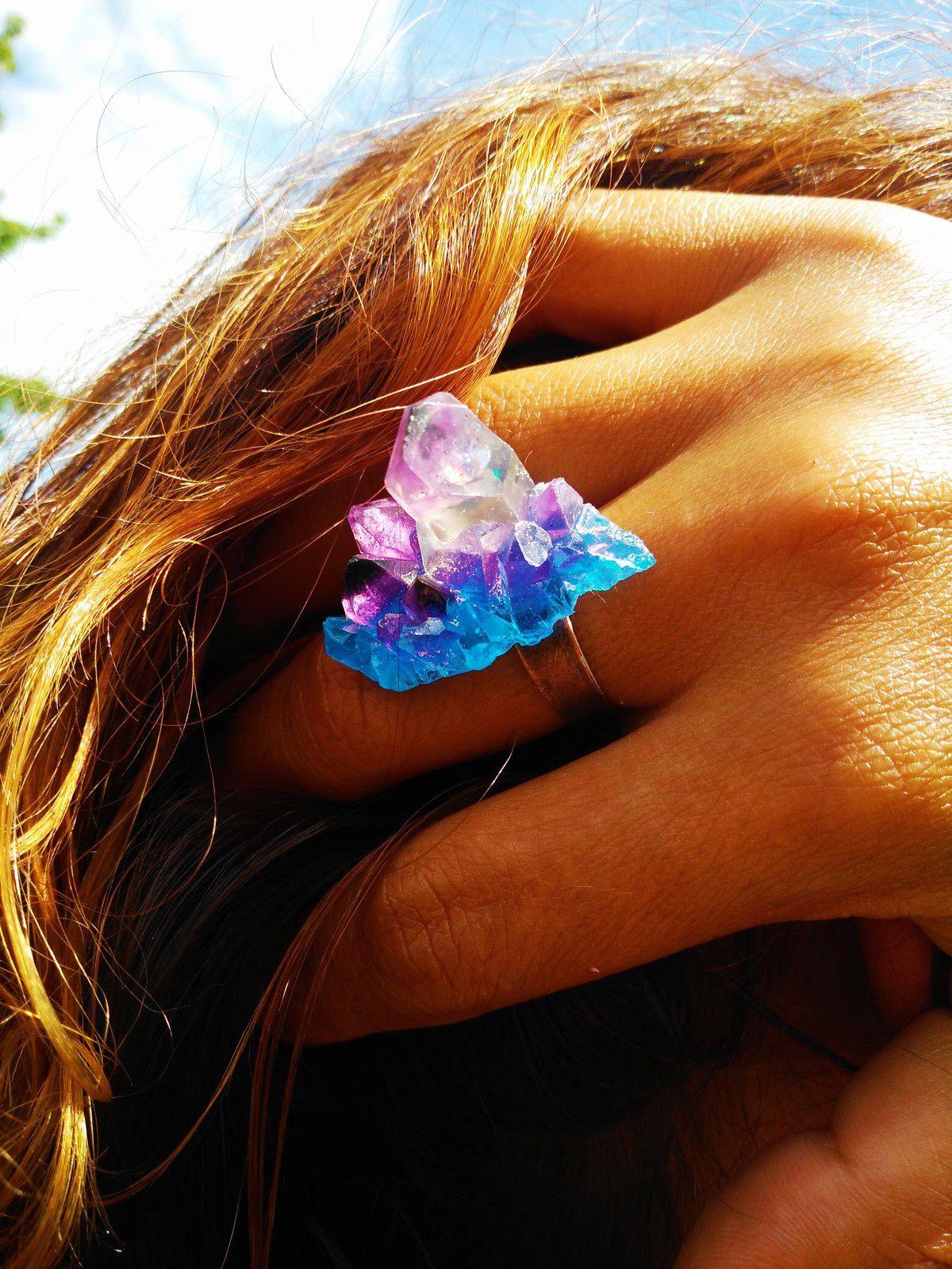 """Bague """" Cristal imaginaire """""""
