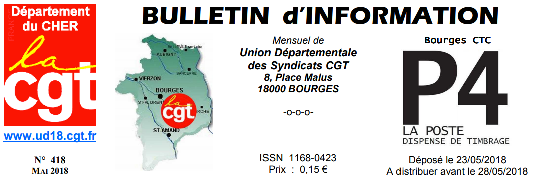 Bulletin d'information UD des syndicats CGT