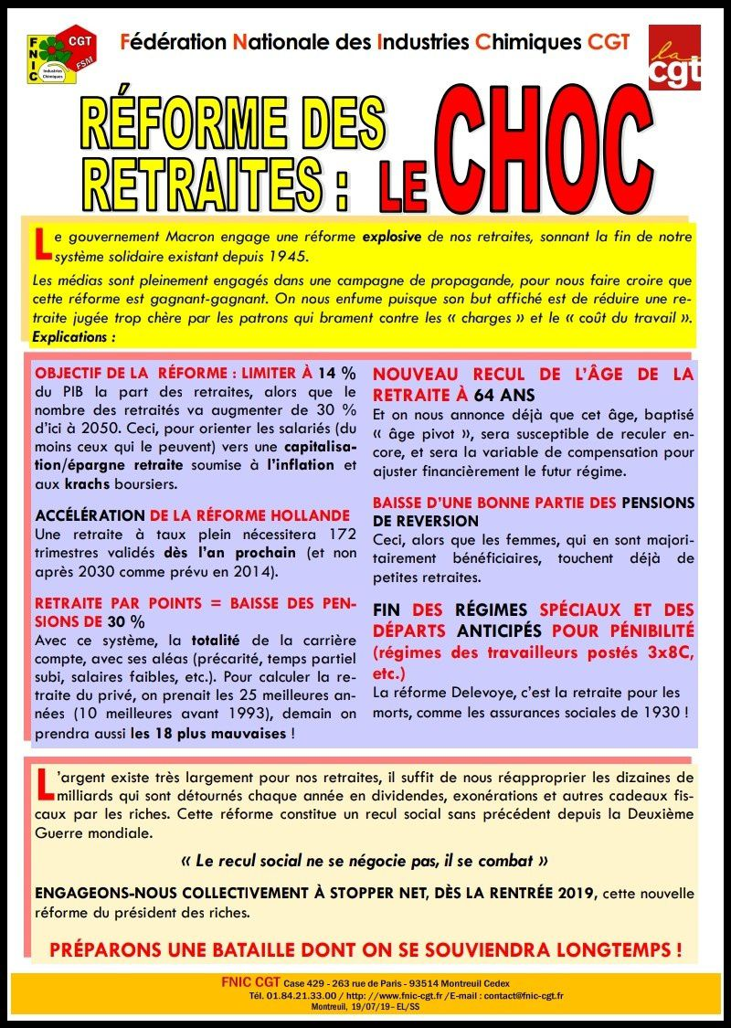 RÉFORME DES RETRAITES : LE CHOC !