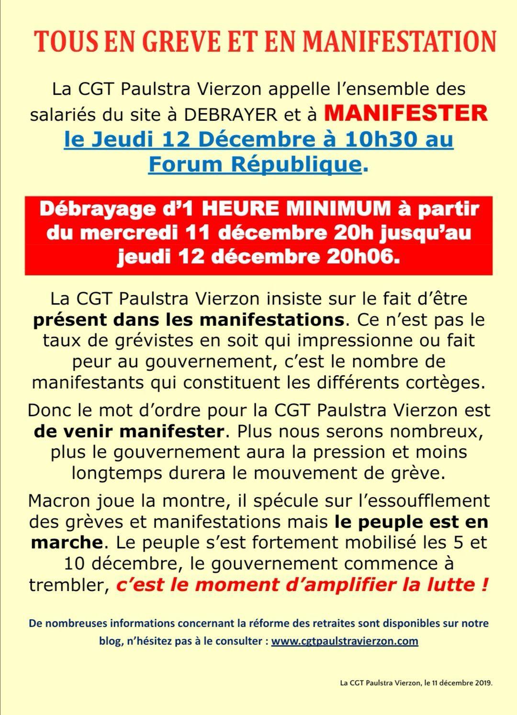 Jeudi 12 décembre, on amplifie la lutte ! Nous devons et nous allons faire plier le gouvernement.
