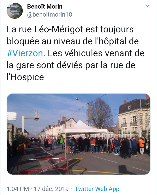 Action devant la mairie + manif à Vierzon