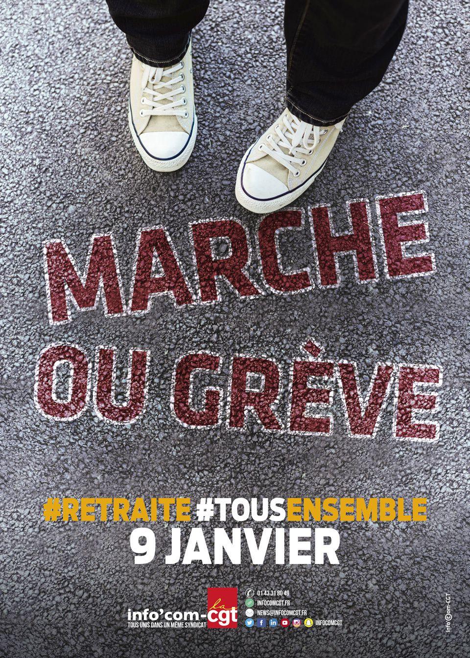 RETRAITE : LE 9 JANVIER, MARCHE OU GRÈVE !