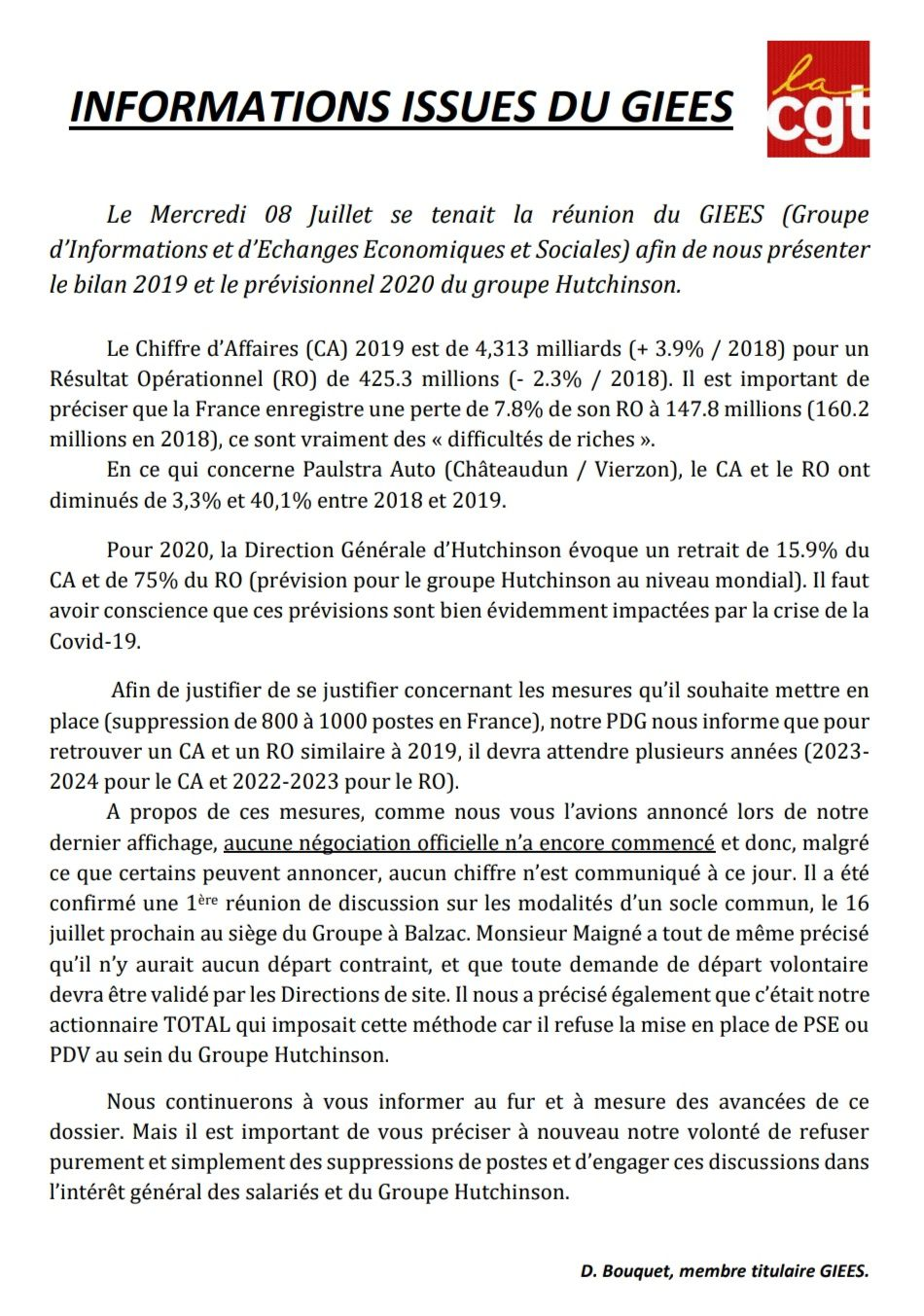 Informations issues du GIEES du 8 juillet 2020.