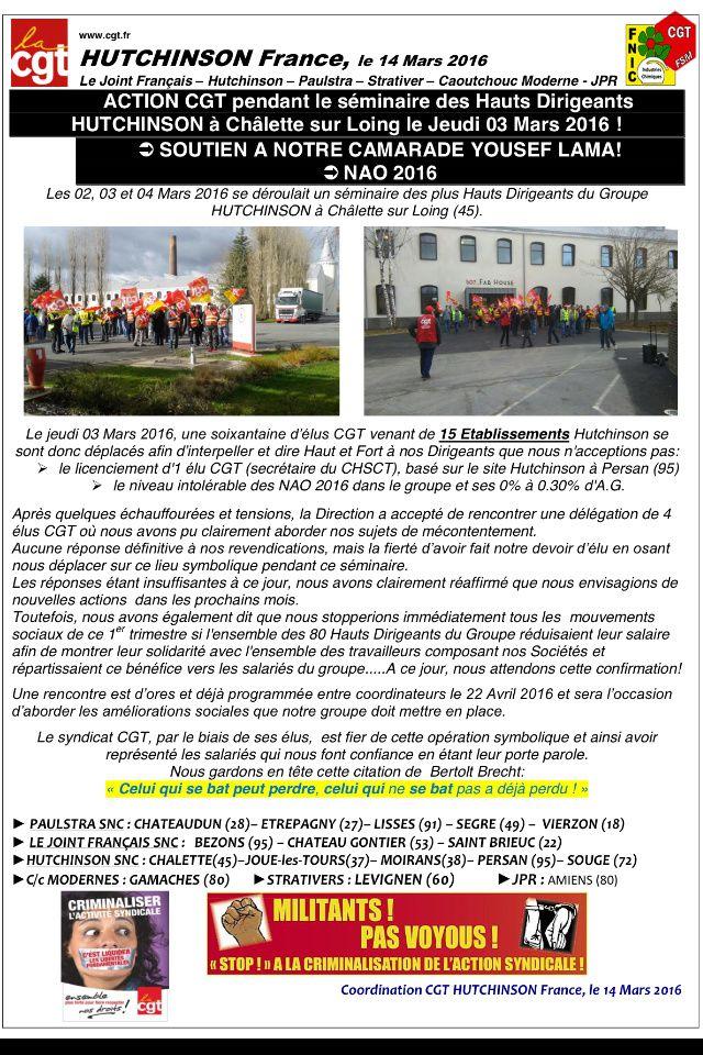 Action CGT à Châlette !