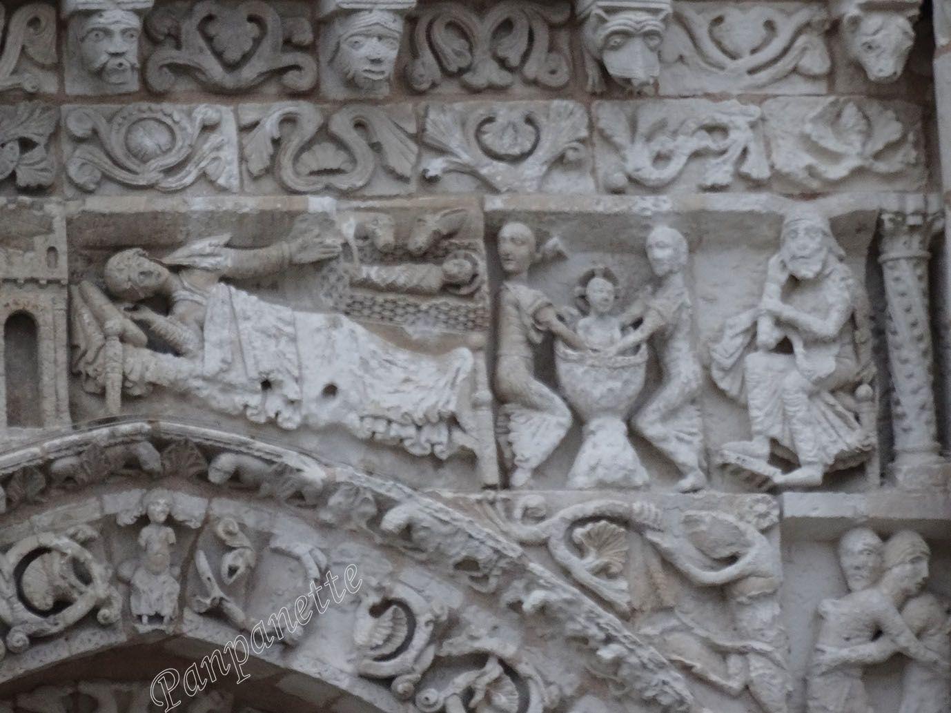 Notre-Dame-la Grande, détail des sculptures