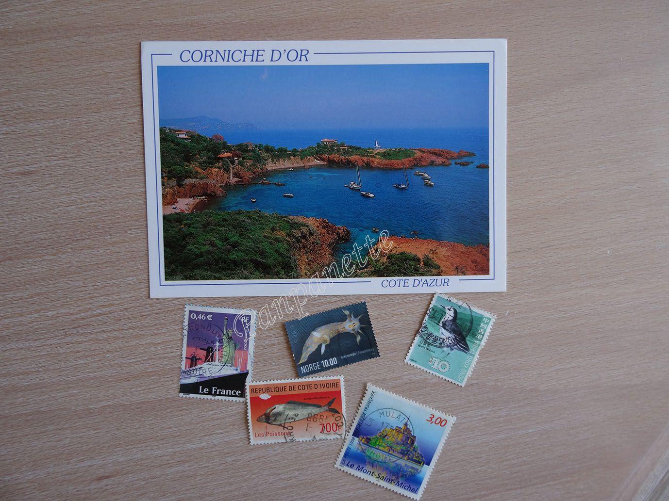 avec des timbres pour ma collection ! ^^