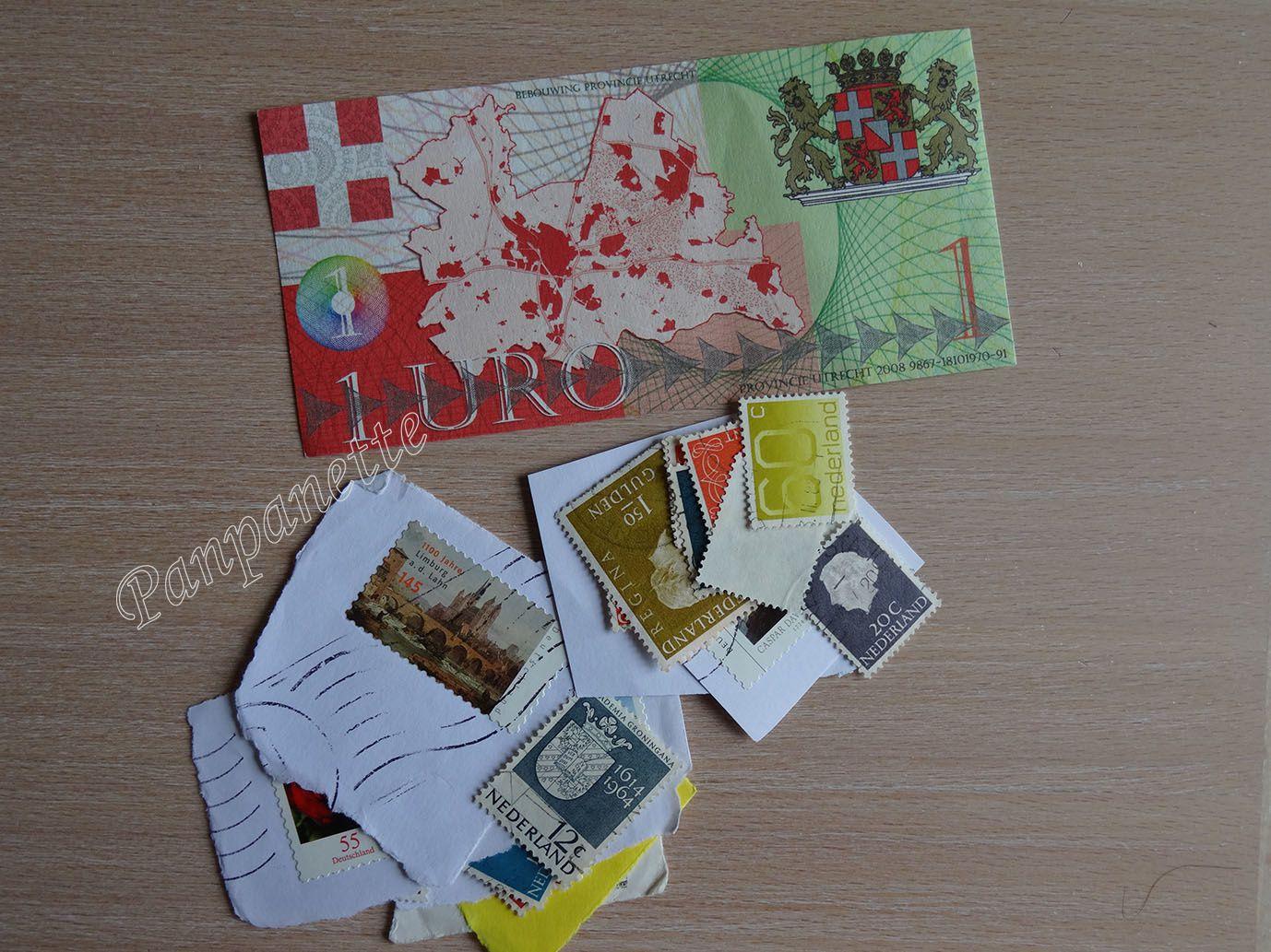 ... avec des timbres pour ma collection