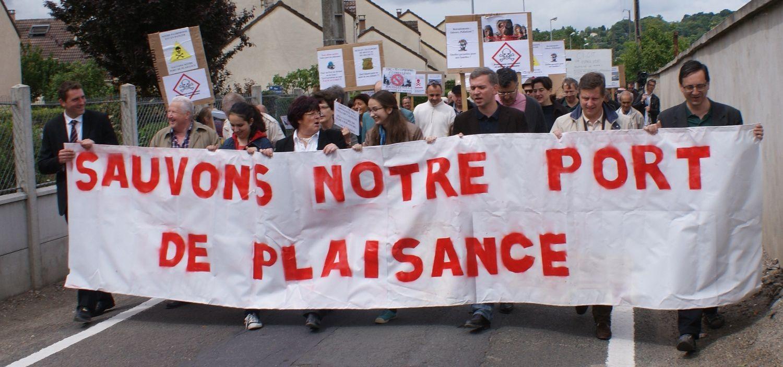 Une marche pour relancer la contestation du port industriel, Rendez-vous le samedi 14 juin à 11 heures au centre ville de Villennes-sur-Seine