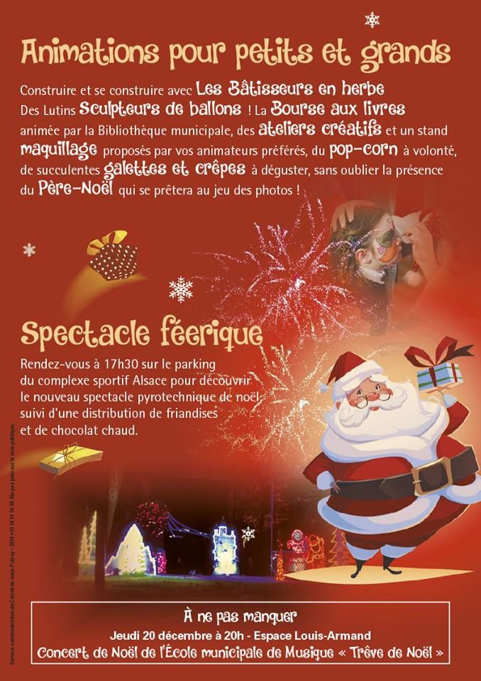 Samedi 15 décembre : Marché de Noël avec le père Noël !