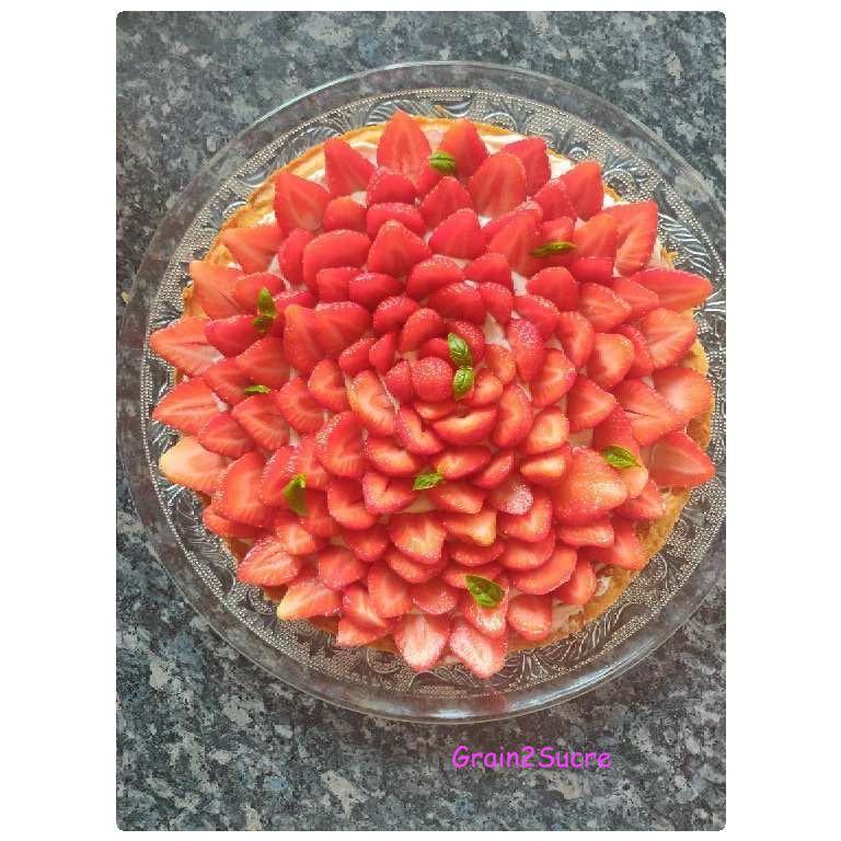 Grain2Sucre. Tarte aux fraises chantilly au mascarpone