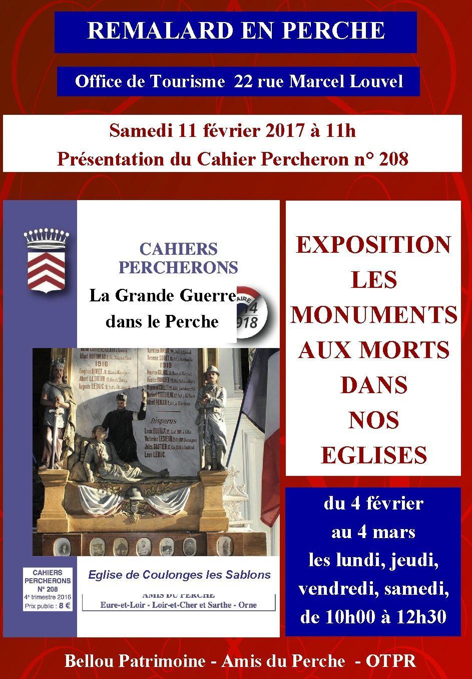 Eglises St Maurice/H et Rémalard.  Coulonges les S sur couverture CP 208