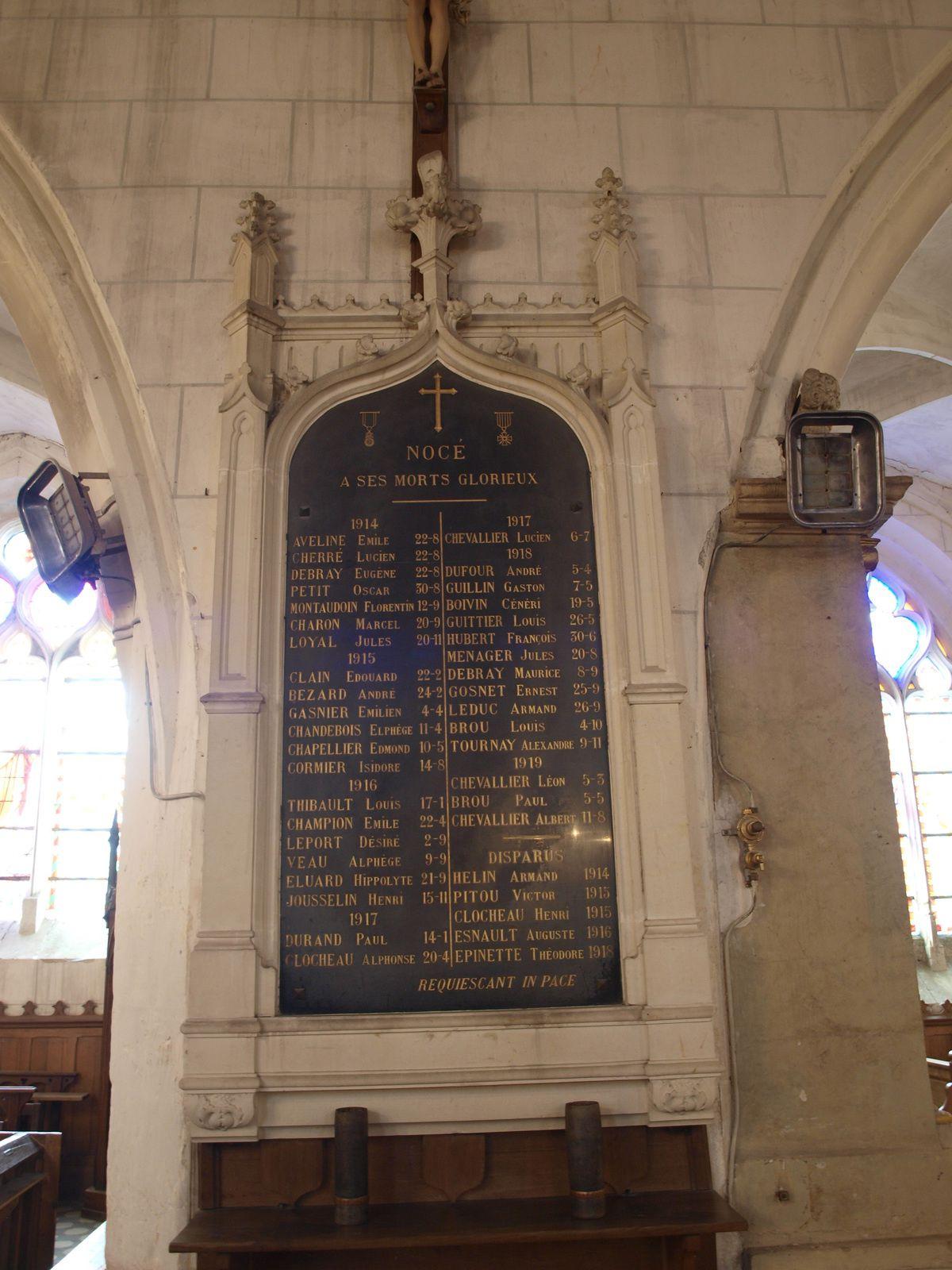 Plaques Corubert, Nocé, St Pierre la B., monument Colonard Corubert, auteurs divers
