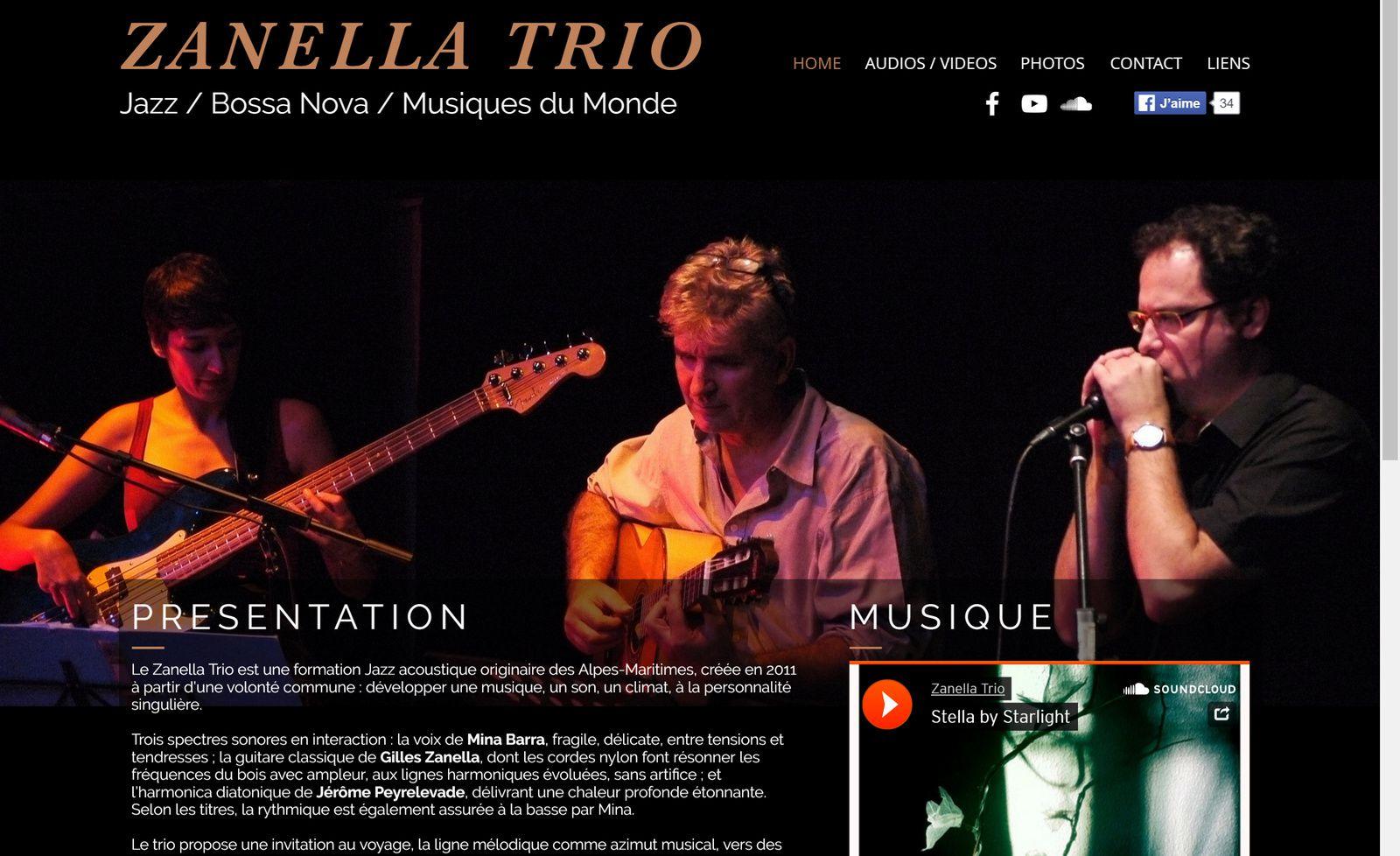 Site web du Zanella Trio