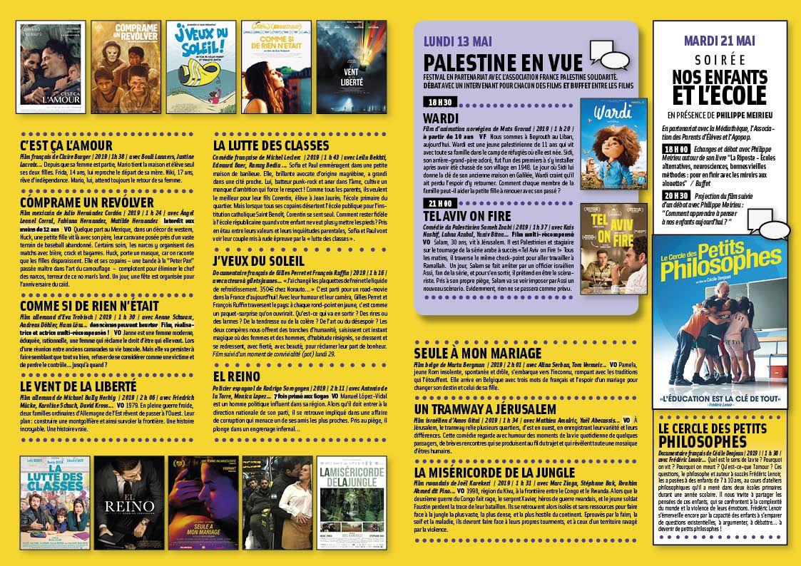 Programme d'avril-mai au format A4