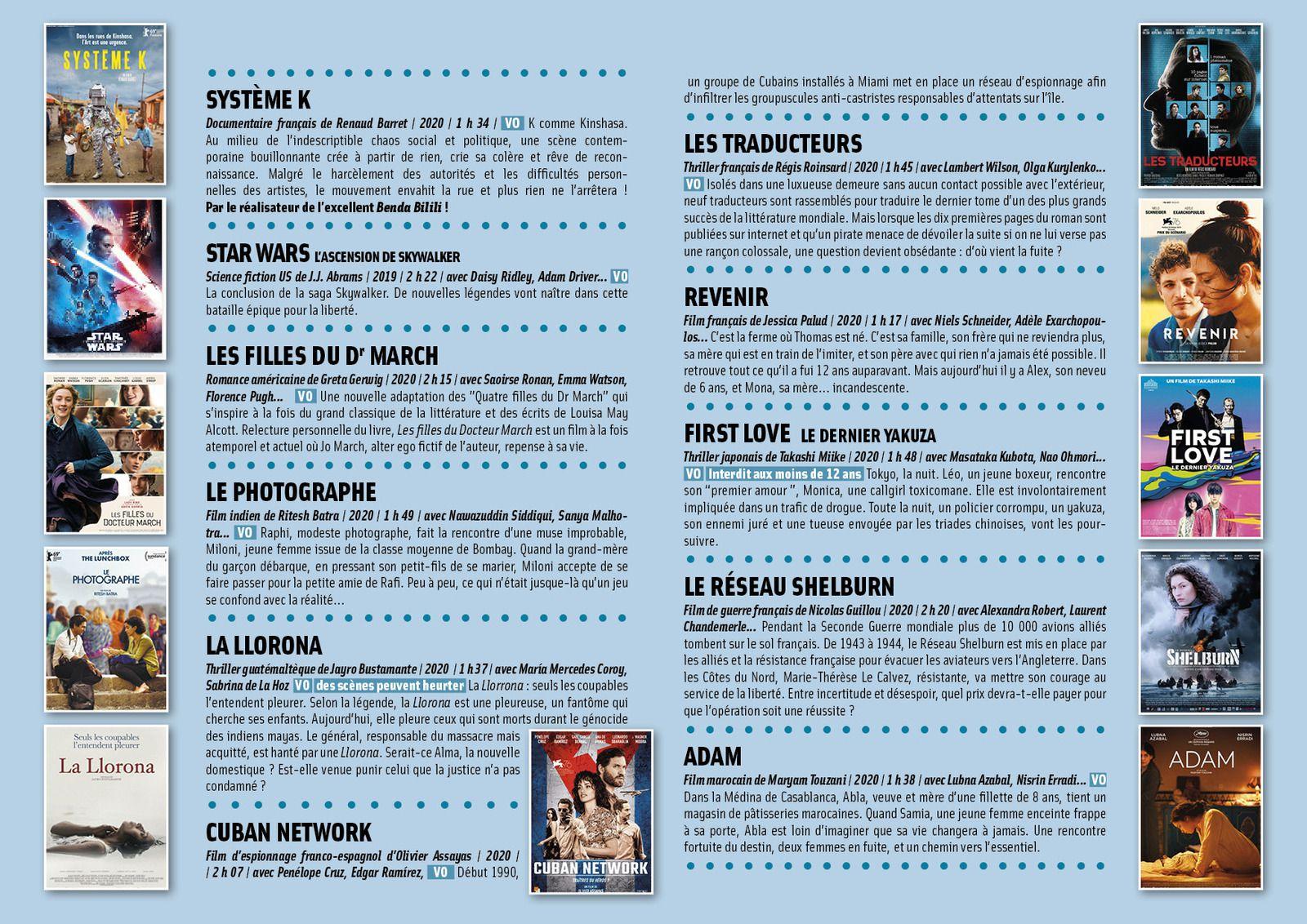 Programme au format A4 / 4 pages