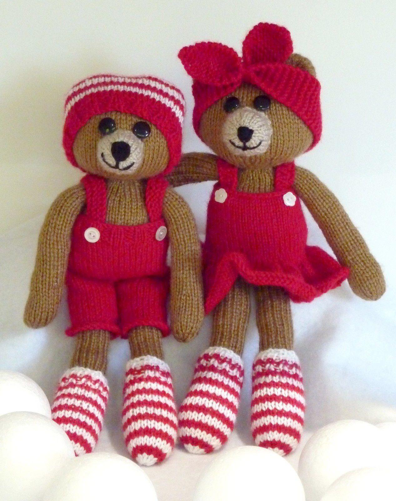 Couple d'oursons de Noël