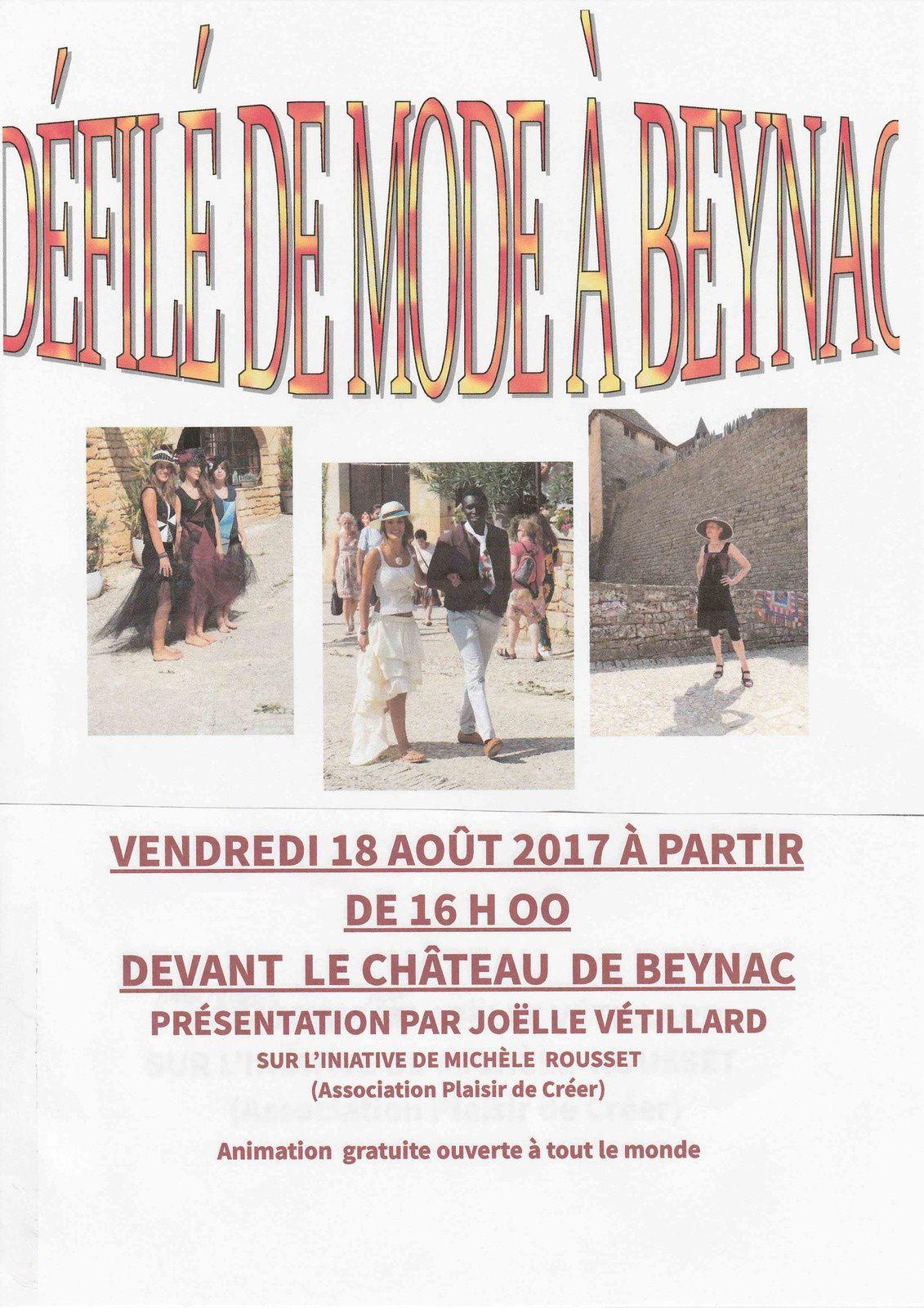 Défilé de Mode Beynac en Dordogne 2017