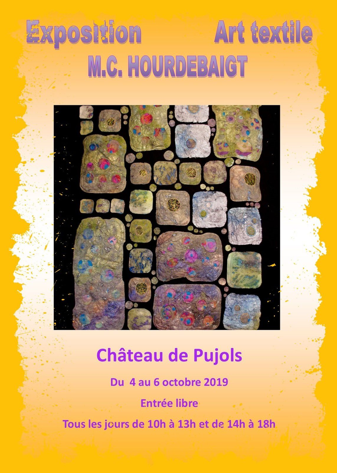 Exposition Art Textile MC Hourdebaigt Pujols 33
